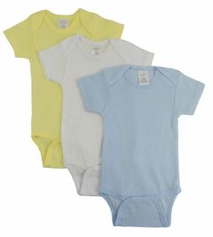 Bambini Layette Infant Wear From: 002L To: 002S - Bambini Pastel Boys Short Sleeve Variety Pack